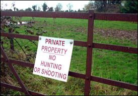 No Hunting or Shooting sign